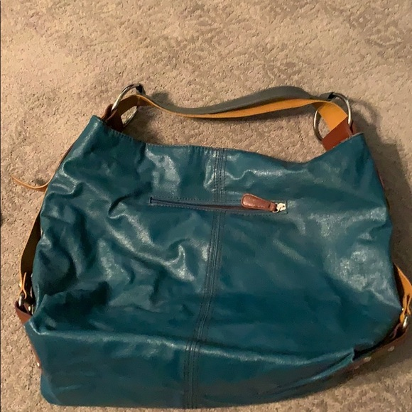 Handbags - Teal Vegan bucket hobo bag
